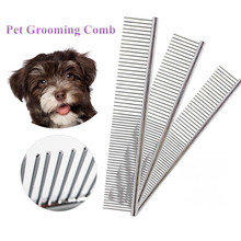 Pet Dematting Comb Pet Grooming Comb for Dogs and Cats Stainless Steel Gently Gently