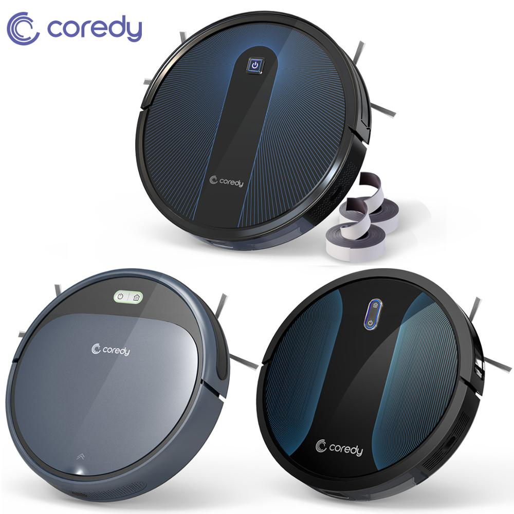 Coredy Robot Vacuum Cleaner Smart Sweeping Hair Dust Wet Dry Mop Cleaning For Carpet Floor Home Auto Charging Disinfection Clean
