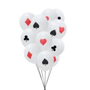 Image 5 - Kasyno dekoracja na imprezy tematyczne Poker Logo wiszące baner urodzinowy lateksowe balony foto budka Prop pokaz magii zaopatrzenie firm