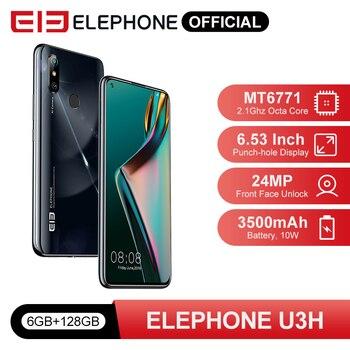 "In Stock ELEPHONE U3H 6GB 128GB Helio P70 Smartphone 6.53"" FHD+ Screen 48MP Dual Rear Cam 24MP Selfie Face Unlock Android 10 1"