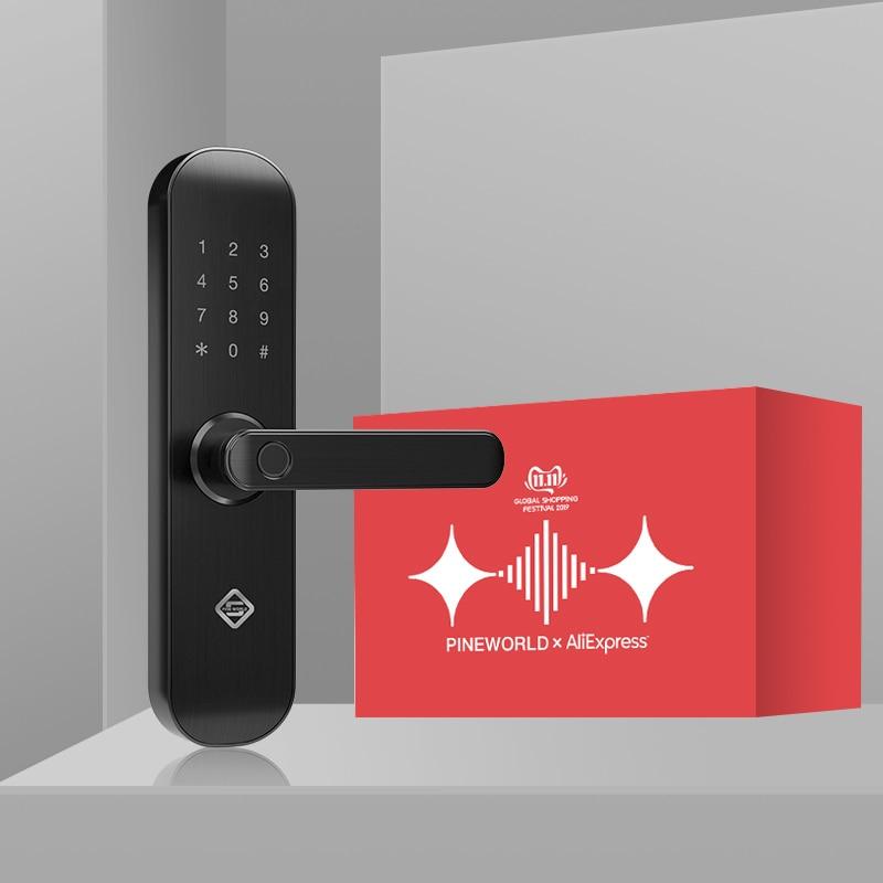 PINEWORLD Biometric Fingerprint Lock, Security Intelligent Lock With WiFi APP Password RFID Unlock,Door Lock Electronic Hotels Картофель фри