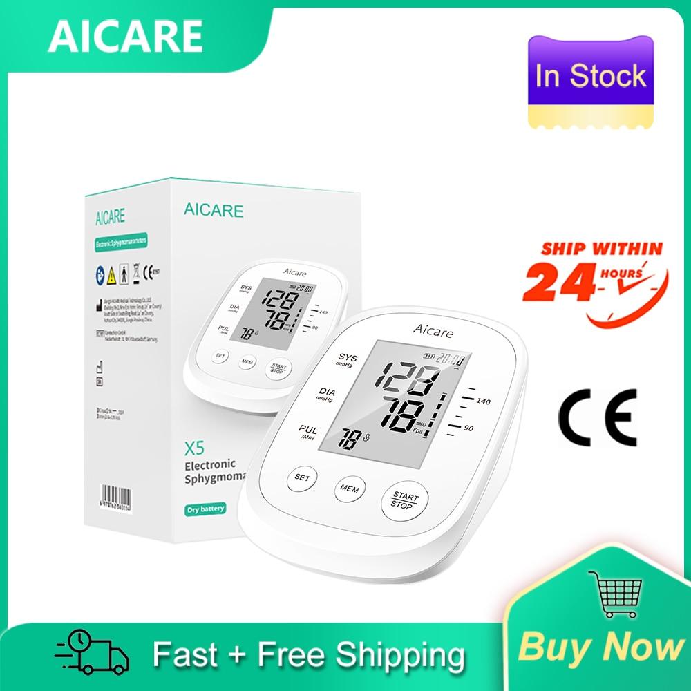 AICARE электронный сфигмоманометр Давление монитор с манжетами на эластичной резинке на предплечье Давление метр домашней заботы о здоровье, ...