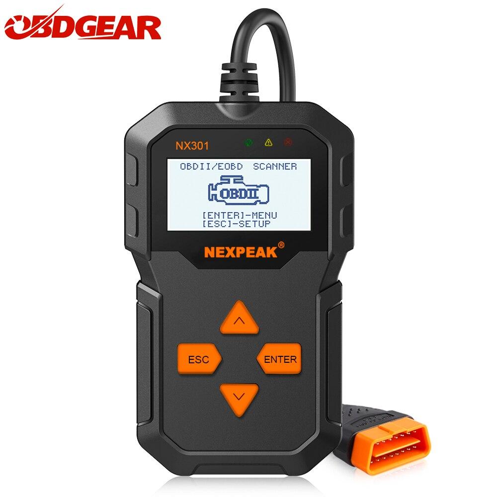 NX301 OBDII Universal Auto Car Diagnostic Tool Scannner Code Reader Diagnostic Scanner Tool OBD2 Tool Better Than ELM327 AD310