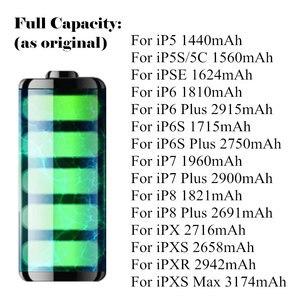 Image 2 - AYJ Thương Hiệu Mới AAAAA Chất Lượng Pin Cho iPhone 6S 6 5S X SE 7 8 Plus XR xs Max Cao Công Suất Thực Bằng Không Chu Kỳ Dụng Cụ Dán