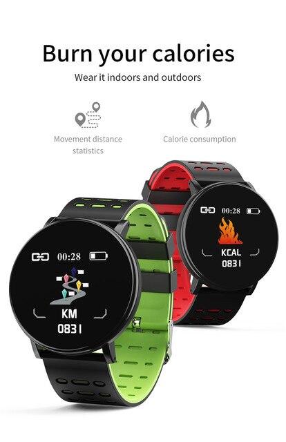 30# 119Plus 2020 Bluetooth Smart Watch Men Blood Pressure Smartwatch Women Watch Sport Tracker WhatsApp For Android Ios 4