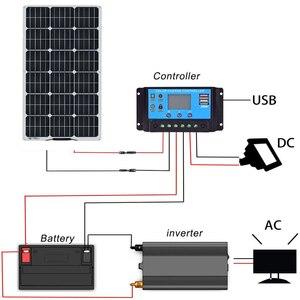 Image 5 - 1PCS 16V גמיש פנל סולארי תאים סולריים מודול ערכת 110V 220V עבור 12V אטום/ג ל/עופרת חומצה/ליתיום סוללה מטען