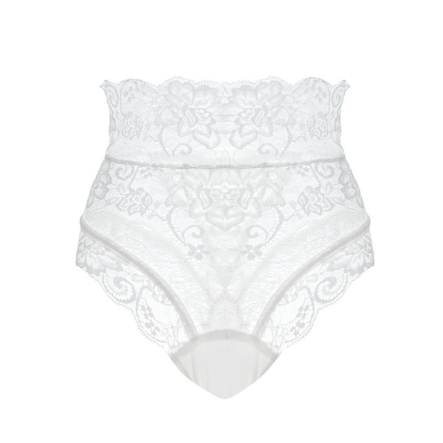 Sexy Panties Women High Waist Lace Thongs and G Strings Underwear Ladies Hollow Out Underpants Imitation Lingerie Female Briefs 3
