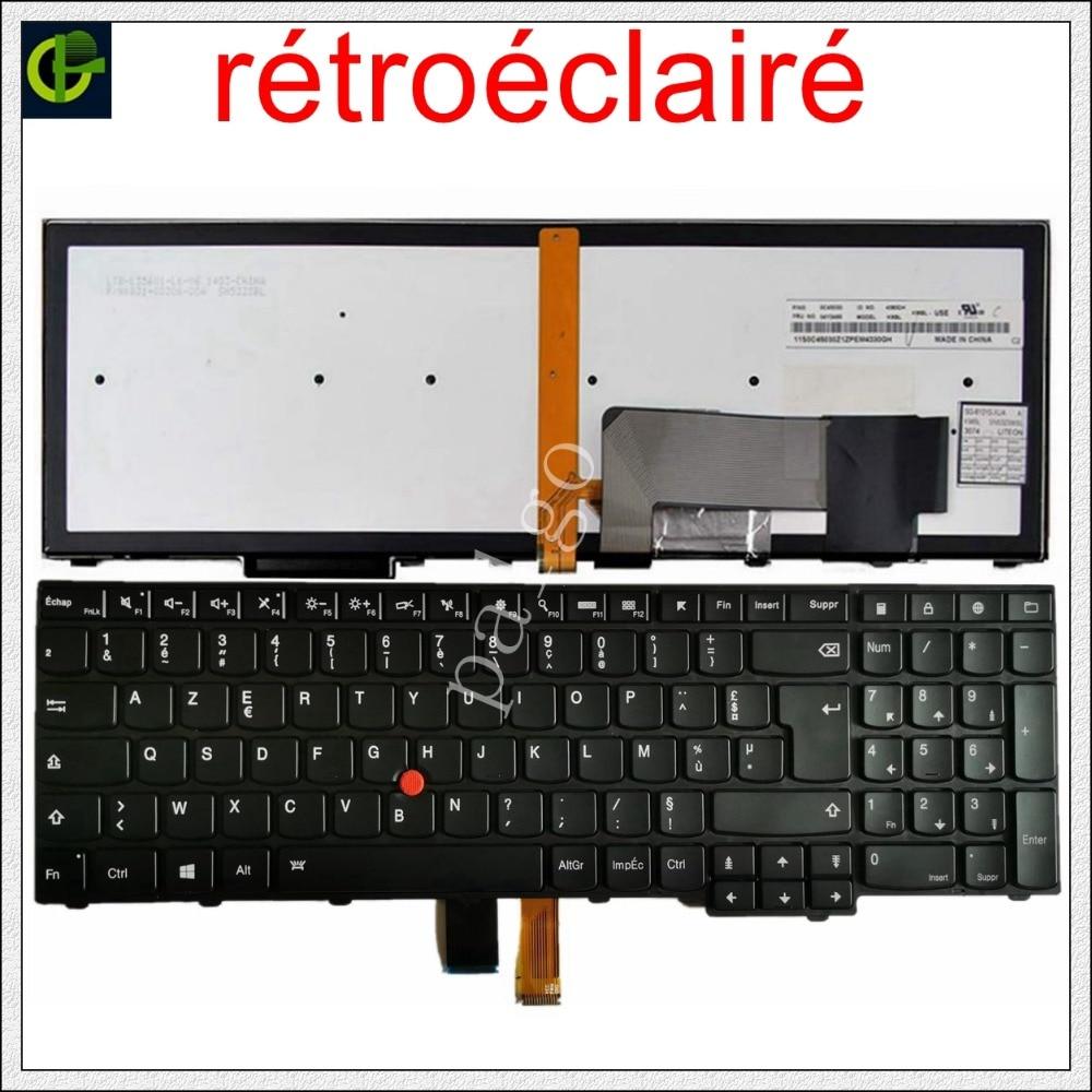 Novo Teclado Retroiluminado Azerty Francês para Lenovo