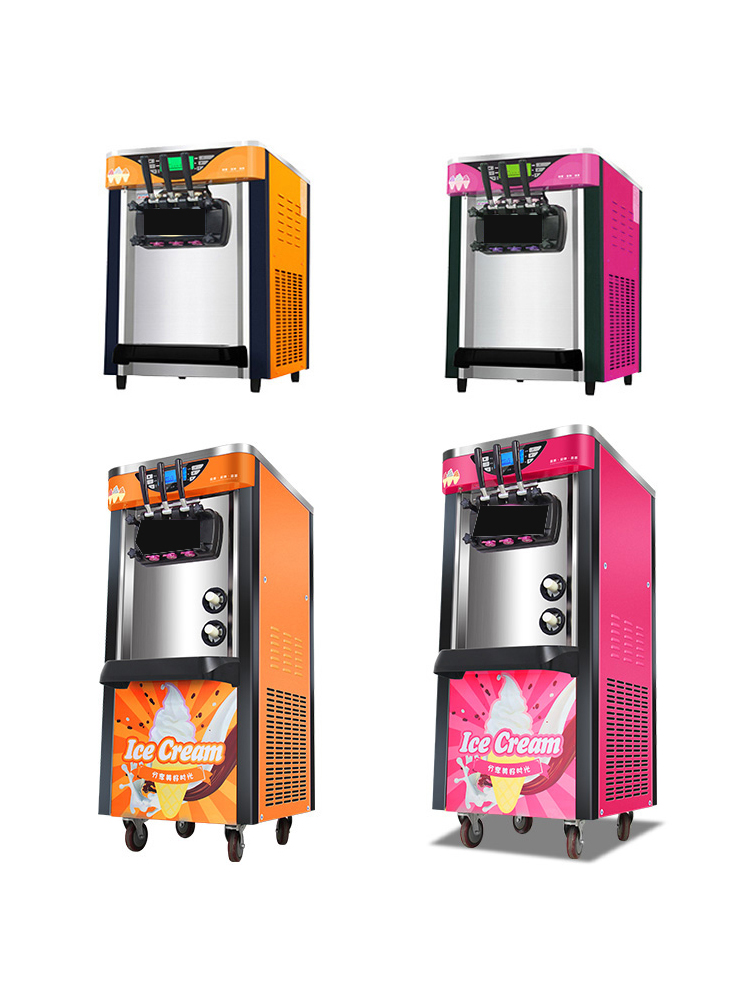 H30ad6403990c4641b8bc80ab4ab2c2824 - Soft Ice cream Machine for commercial 12L small business Cooling cream maker