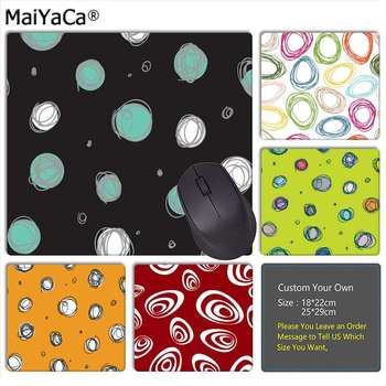 MaiYaCa Your Own Mats circles Art Gamer Speed Mice Retail Small Rubber Mousepad Top Selling Wholesale Gaming Pad mouse