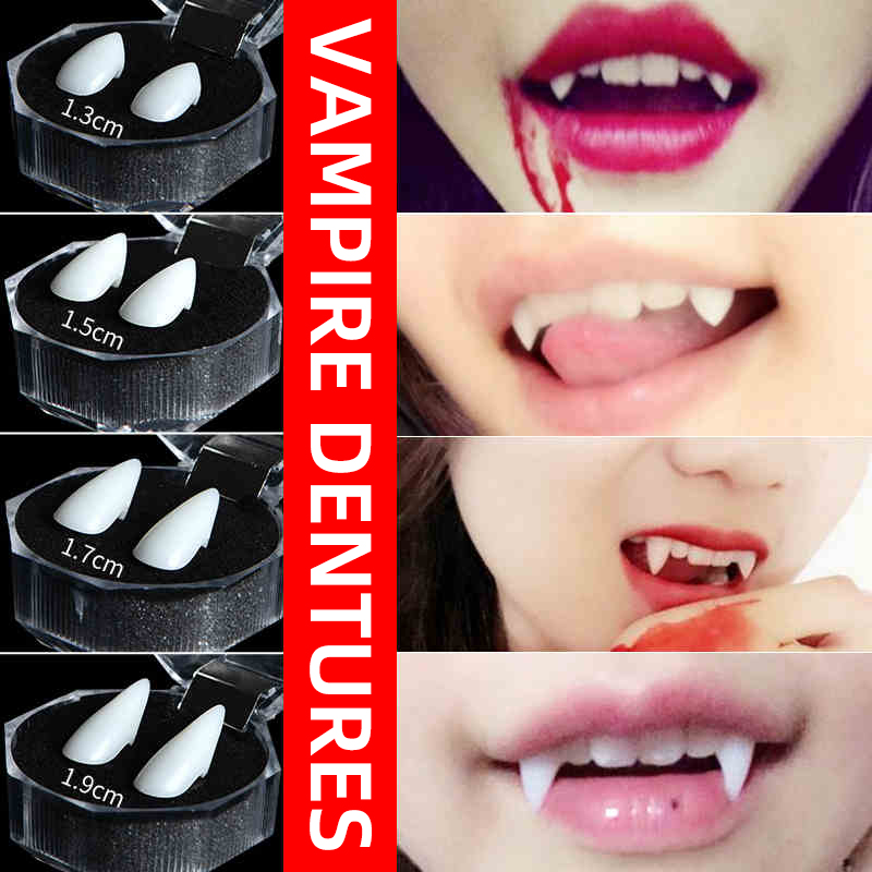 Christmas Present Vampire Teeth Wacky Props Elf Ears Scars Of Stickers Children's Toys Adult Party Props Role Play