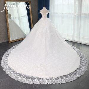 Image 1 - Fansmile jakość długi pociąg Vestido De Noiva koronkowe suknie ślubne 2020 Plus rozmiar spersonalizowany suknie ślubne suknia ślubna FSM 070T