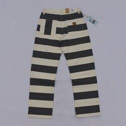 Брюки в полоску BOB DONG, винтажные байкерские брюки 16 унций, 2020