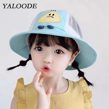 YALOODE Children's Hat Summer Cotton Cartoon Baby Girl Boy Baseball Cap Casual Outdoor Snapback Sun Hat Kids Sunhat цена 2017
