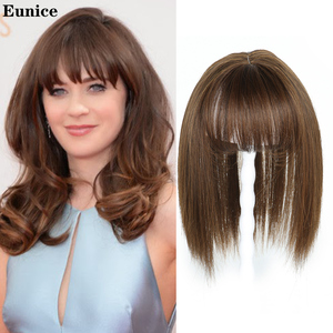 Synthetic Bangs Clip In Hair Bangs Hairpiece Fake Bangs Hair Piece Clip In Hair Extensions Blone Black Brown Eunice