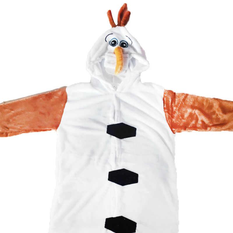 2020 Hot sprzedaży rodzic-dzieci kostiumy dla dzieci dorosłych biały Snowman Olaf kombinezon słodkie fantazyjne piżamy