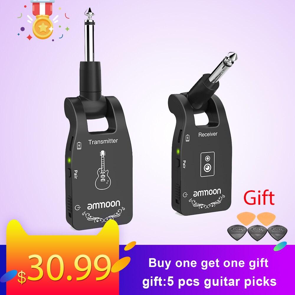 Ammoon 2.4G guitare sans fil Rechargeable 6 canaux émetteur Audio récepteur pour guitare électrique basse Guitarra accessoires