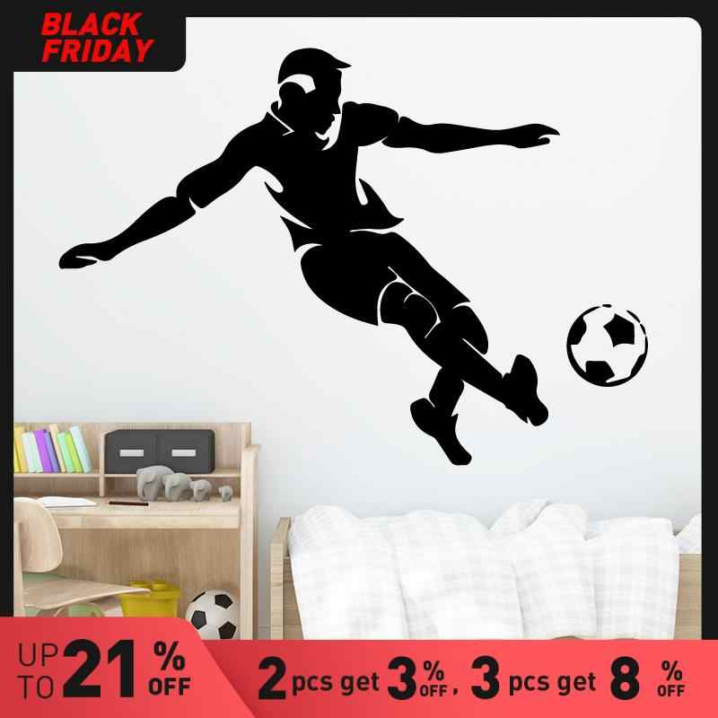 Soccer Player Wall Stickers Modern Fashion Wall Sticker Home Decoration Accessories For Living Room Background Wall Art Decal Wall Stickers Aliexpress