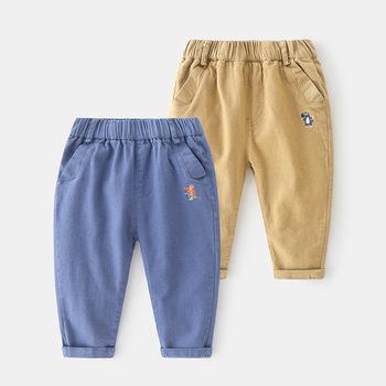 2020 nowa jesienna dzieci modna odzież dla niemowląt chłopców elastyczna kieszeń spodnie robocze dla dzieci niemowlę dorywczo spodnie tanie i dobre opinie vinnytido COTTON Luźne Chłopcy NONE Pełnej długości Pasuje prawda na wymiar weź swój normalny rozmiar Elastyczny pas