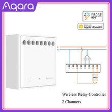 Original Mijia Aqara Two-way control module Wireless Relay Controller 2 channels Work For Mijia APP and Home kit