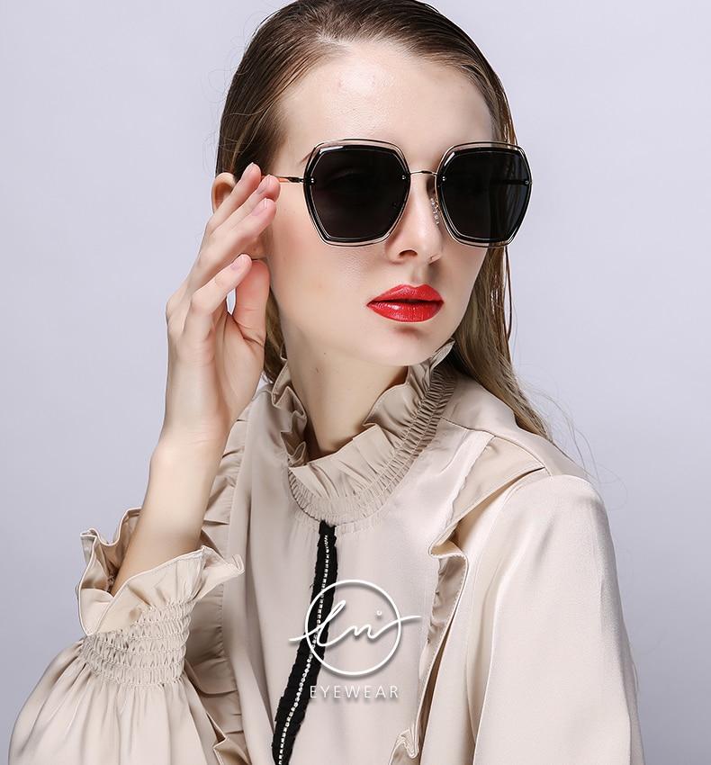 Lm 2021 женские поляризованные солнцезащитные очки с двойной