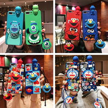 Creative cute cartoon doll pendant case for iPhone11 X XS XR XSMax 8 7 6 6S PluS hanging silicone anti drop protection cover