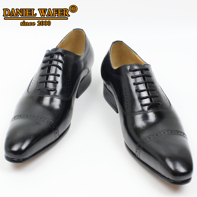 GENUINE LEATHER OXFORD DRESS SHOES  4