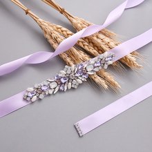 TRiXY S451 Colorful Rhinestones Belt Bridal Diamond Wedding Dress Crystal Sash For Accessories