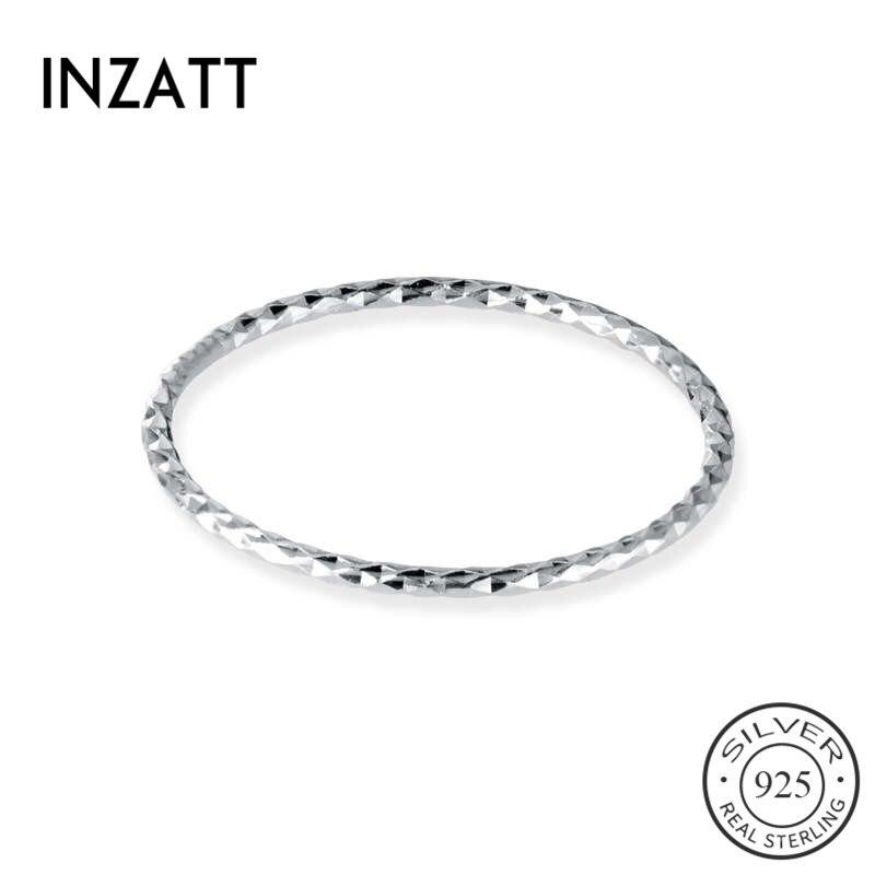 INZATT-bague ronde en argent Sterling 925% pour femmes, bijoux classiques et fins minimalistes, accessoires de forme géométrique, cadeau cadeau