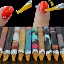 2pcs DIY Nail Art Rhinestones Gems Picking Crystal Dotting Tool Wax Pencil wood Pen Picker Rhinestones Nail Art Decoration Hot