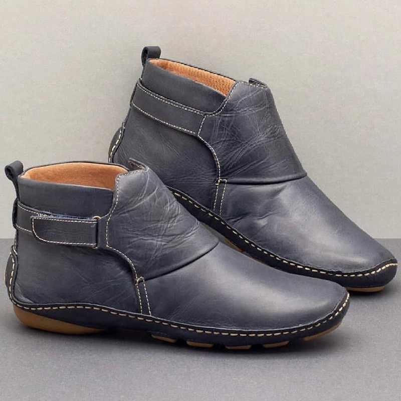 2019 yeni yarım çizmeler kadınlar için çizmeler kadın kış ayakkabı kadın PU deri çizmeler kış patik yumuşak rahat ayakkabı düşük topuk ayakkabı