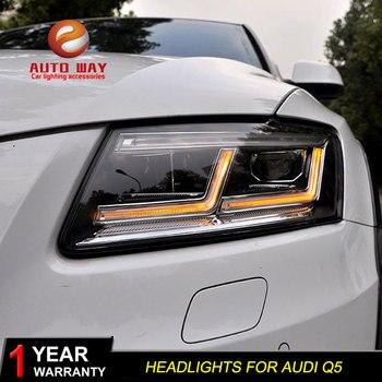 Car Styling Head Lamp case for Audi Q5 2009-2018 Headlights LED case for Audi Q5 Headlight DRL Lens Double Beam Bi-Xenon
