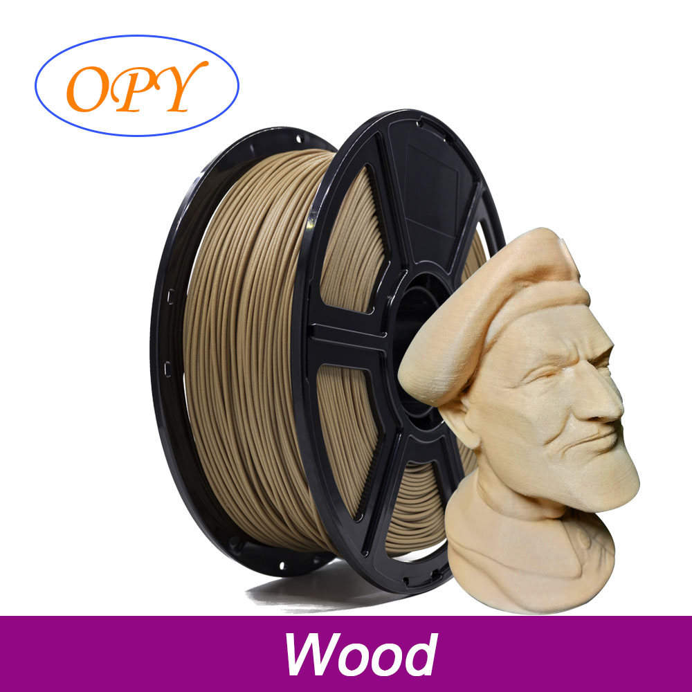 3D Printer Wood Filament Pla 1.75Mm 1Kg Wood Reels Roll Plastic