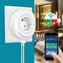 Smart-Socket Dual-Usb-Port Wifi Eu-Plug Home with LED Voice-Phone-App-Control Graffiti