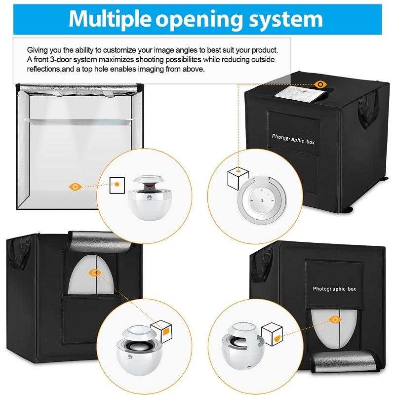 E-shop Photo LED Light Box multiple opening system
