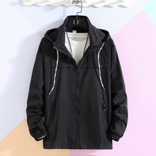 Summer Thin Jacket Men White Hooded Mens Windbreaker Detachable Hat Quick-drying Sunscreen Coat Male Outerwear Jackets for Men
