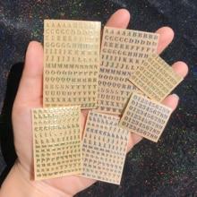 3mm número do alfabeto adesivo resina cristal jóias diy artesanato do prego materiais de metal material artesanal gesso vela telefone caso decoração