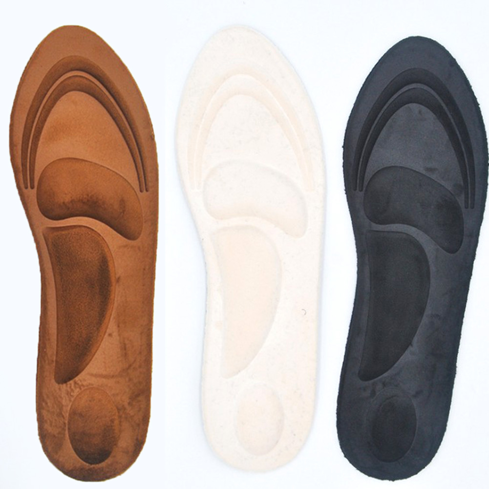 4D Suede Memory Foam Insoles Flat Foot Feet Care Sole Shoe Orthopedic Pads Insoles Sport Sponge Arch Support Insoles Men Women