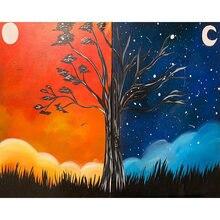 Diy картина по номерам на дереве фантазии Раскраска взрослых