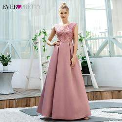 Новое поступление Розовые платья для выпускного вечера 2020 Ever Pretty EP00644 Для женщин розовое ТРАПЕЦИЕВИДНОЕ платье без рукавов с блестками Плат...