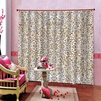 Polyester Pebble Stone Shower Curtain for living room bedroom blackout curtains 3D digital print