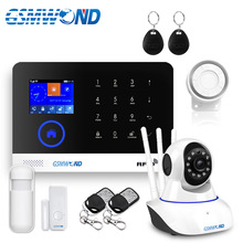 Wifi GSM APP RFID kablosuz ev güvenlik gsm alarm sistemi dokunmatik klavye 433MHz kapı dedektörü kızılötesi sensör alarm PG 103 w2B