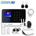 Wifi gsm app rfid wirelesss casa segurança gsm sistema de alarme toque teclado 433 mhz detector de porta sensor infravermelho alarme PG-103 w2b
