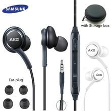 סמסונג AKG אוזניות EO IG955 3.5mm באוזן עם מיקרופון חוט אוזניות עבור Samsung Galaxy s10 S9 S8 S7 s6 S5 huawei xiaomi smartphone