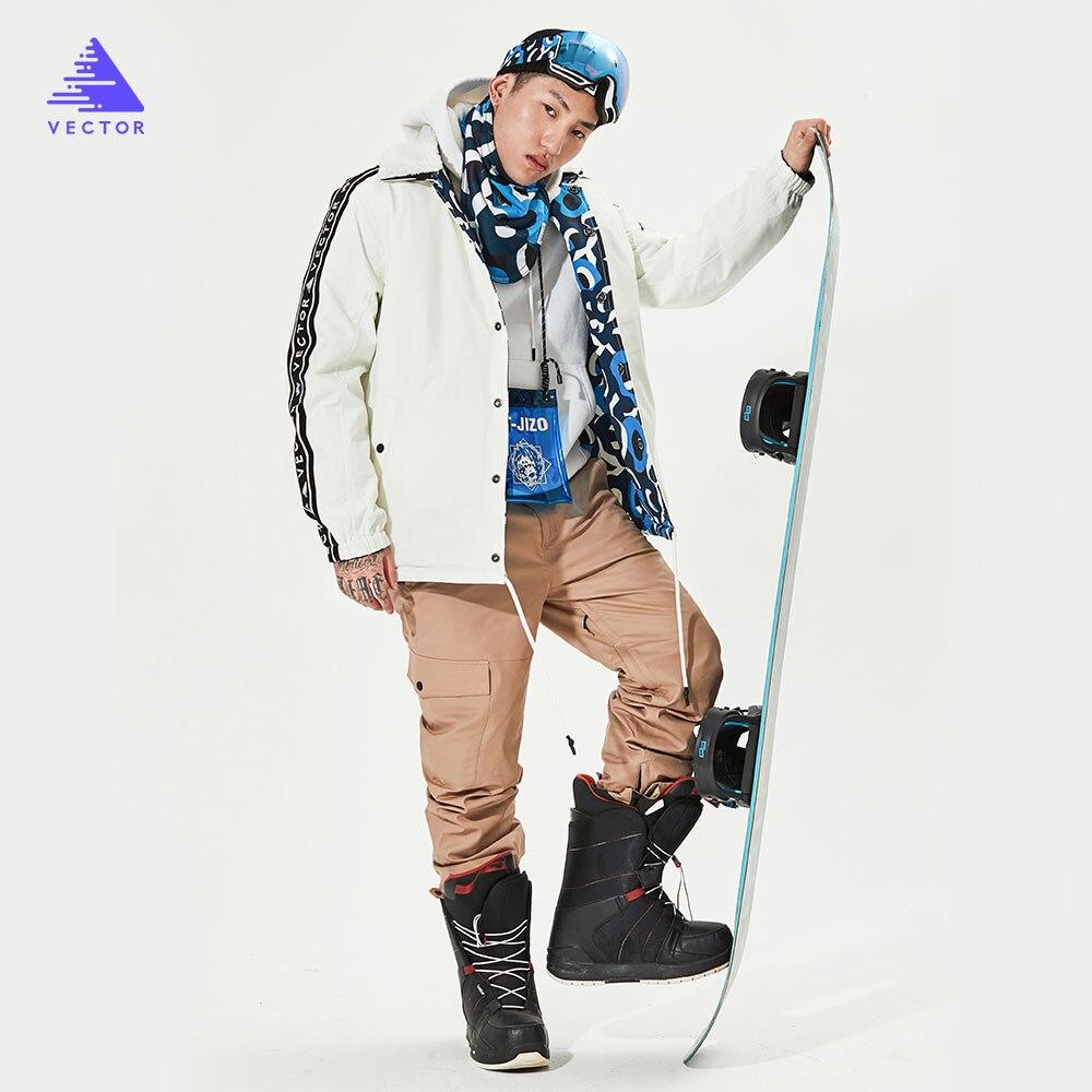 Бренд Вектор для мужчин и женщин, лыжный костюм, брюки, куртка, Двусторонняя куртка, зимняя теплая, ветрозащитная, водонепроницаемая, для спо...