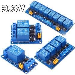 Релейный модуль 3 в 3,3 В 1/2/4/8 каналов, триггер высокого и низкого уровня, двойной оптрон, изоляция 3,3 В, релейный модуль