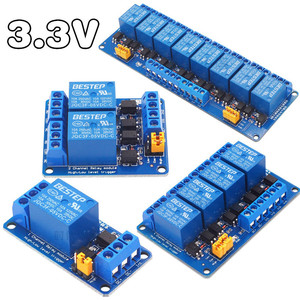 3V 3.3V 1/2/4/8 Channel Relay Module High and low Level Trigger Dual Optocoupler Isolation 3.3V Relay Module