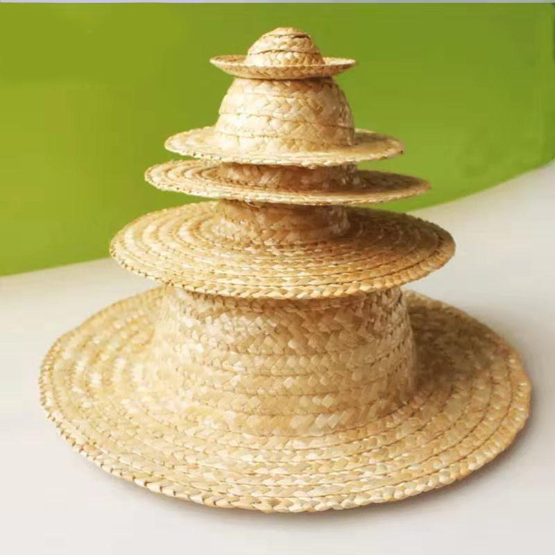 Small Straw Hat Children DIY Painting Graffiti Handmade Materials School Environment Layout Decorative Materials Creative Art