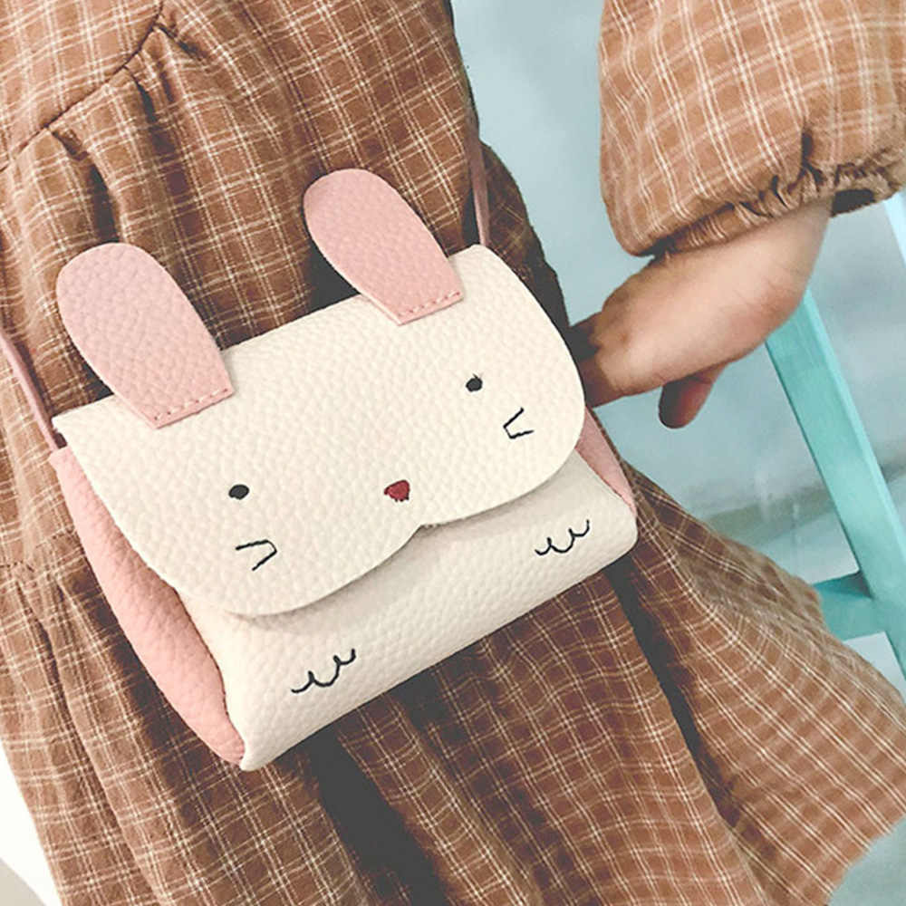 2019 New Hot Sale Girls PU Coin Purse Bag Wallet Kids Rabbit One Shoulder Bag Small Coin Purse Change Wallet Kids girls bags