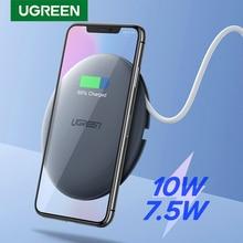 Chargeur sans fil UGREEN 10W 7.5W Qi chargeur sans fil pour iPhone 11 Pro X XS 8 XR Samsung S9 S8 chargeur sans fil rapide pour téléphone